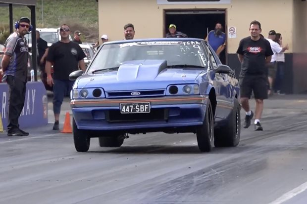 Small-block Ford-powered XF Falcon ute goes 8.16@175mph