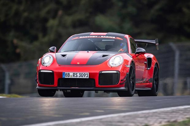 Porsche 911 GT2 RS MR sets new Nurburgring record