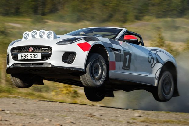 Jaguar builds pair of drop-top F-Type rally cars to get dirt in your hair