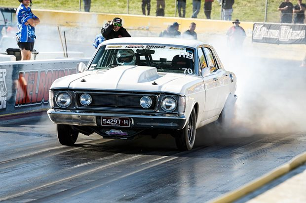 Frank Marchese's 200mph XW Fairmont takes out Drag Challenge 2018
