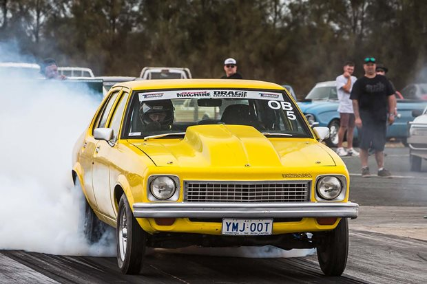 700hp twin turbo Holden powered LX Torana at Drag Challenge 2018