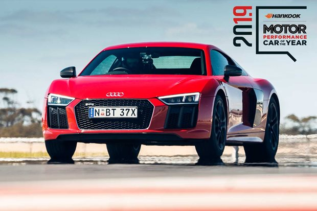 Performance Car of the Year 2019 4th place Audi R8 RWS