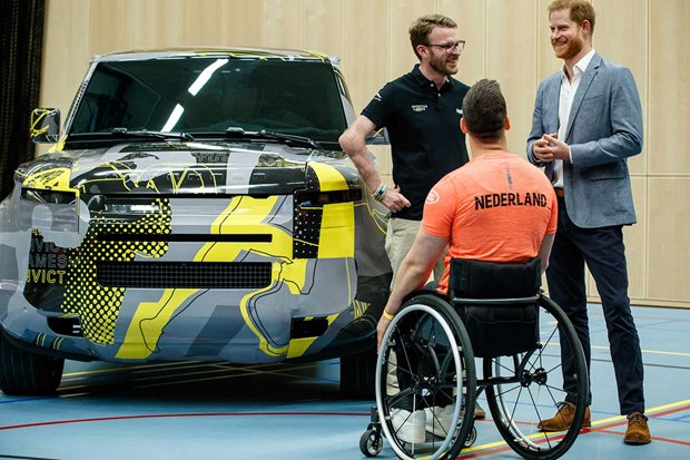2020 Land Rover Defender Invictus Games livery
