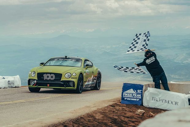 Bentley Continental GT Pikes Peak production car record