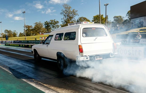 Turbo LS-powered Holden WB panel van at Drag Challenge Weekend 2019