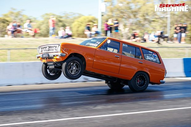 Turbo Datsun 1200 wagon at Drag Challenge Weekend 2019