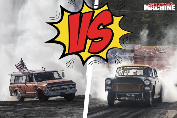 Farmtruck versus Blasphemi at the NHRA Nationals