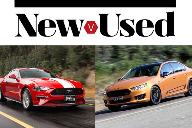New vs Used: Buy the new Ford Mustang GT or get a used Ford Falcon XR8...