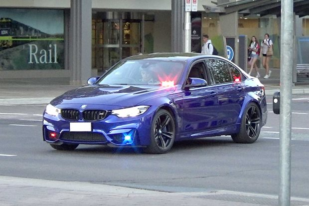 Unmarked BMW M3 police car spotted in Canberra