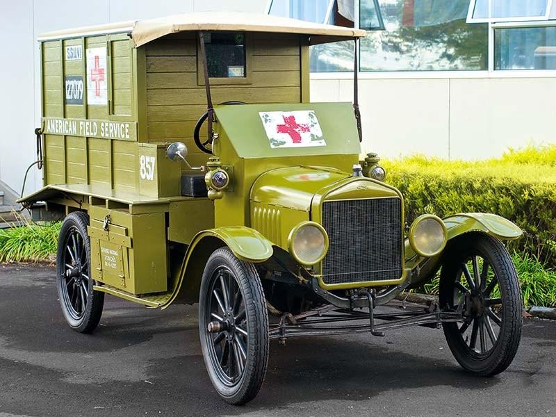 Vintage Ford Model T ambulance