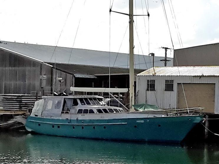 MOTORSAILER 81 STEEL AND ALUMINIUM MOTOR SAILER 25M for sale | Trade Boats, Australia