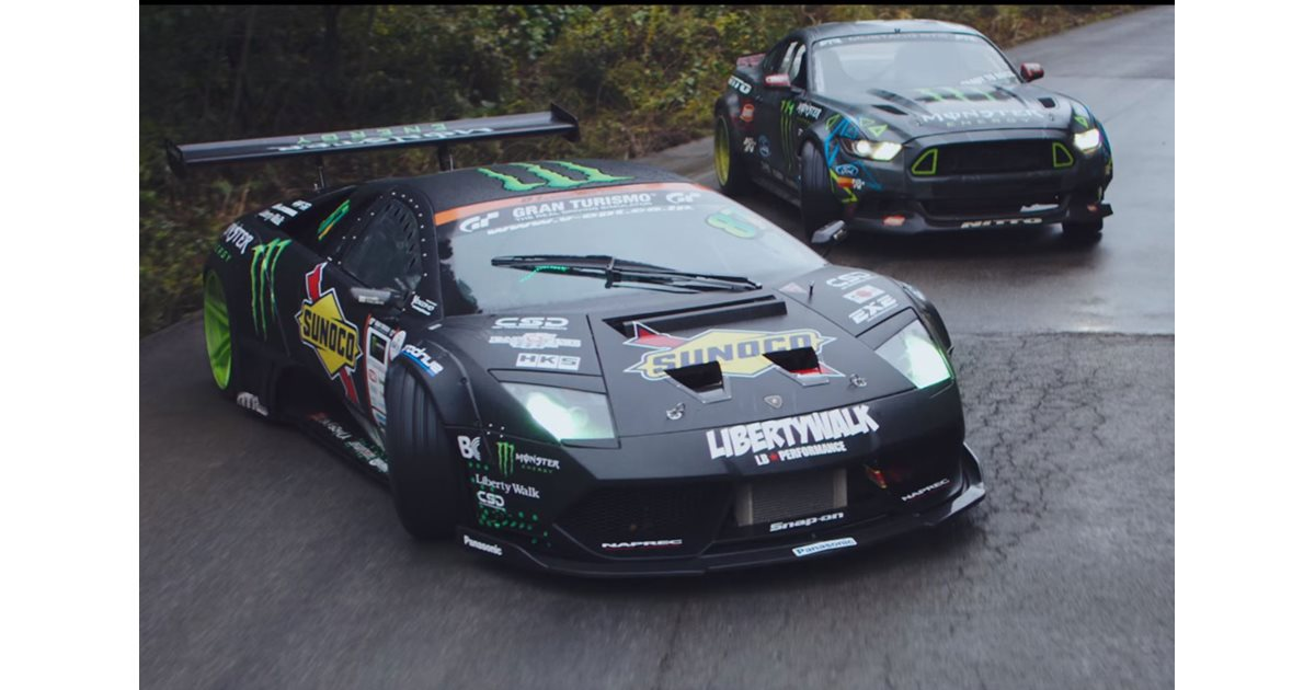 ford mustang vs lamborghini murcielago drift battle