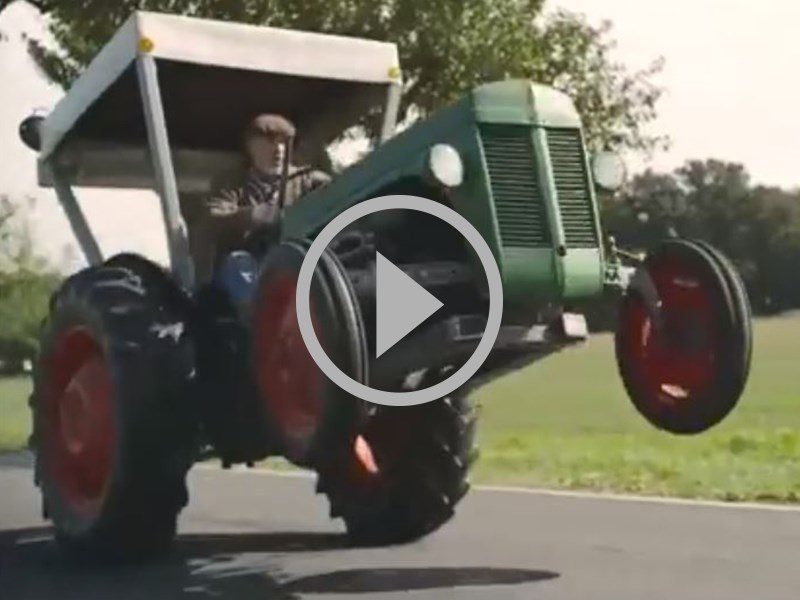 Souped Up Tractor : Video souped up old school tractor