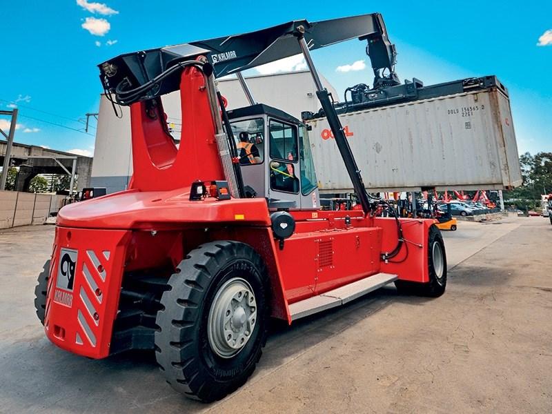 Kalmar Drf100 Reach Stacker Review Trade Plant And Equipment Australia