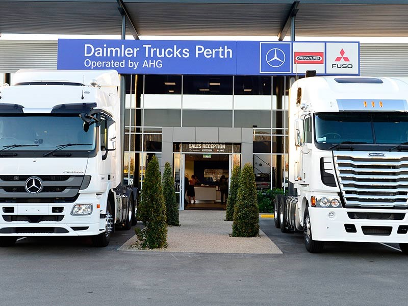 The new ahg and daimler perth facility news for Freightliner mercedes benz