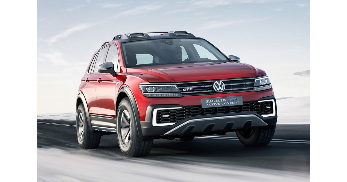 2016 detroit motor show 2017 volkswagen tiguan gte revealed. Black Bedroom Furniture Sets. Home Design Ideas