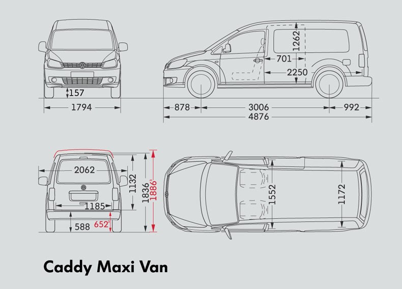 New Volkswagen Caddy Maxi Van Light Commercial For Sale