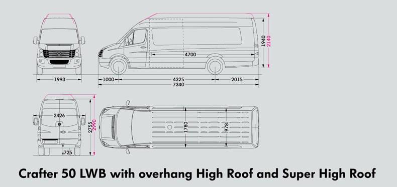 New Volkswagen Crafter 50 Utility Van High Roof Light