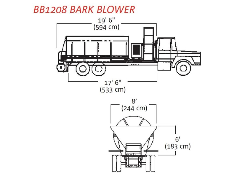 finn bb-1222 bark blower 270081 003