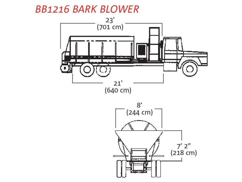 finn bb-1222 bark blower 270081 004