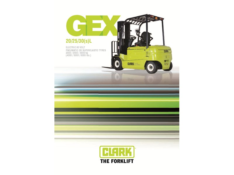 2015 clark gex30l electric forklift for sale for Electric forklift motor for sale