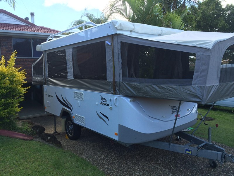 Cool Jayco Swan Outback With A Few Options Like The Slide Out BBQ And