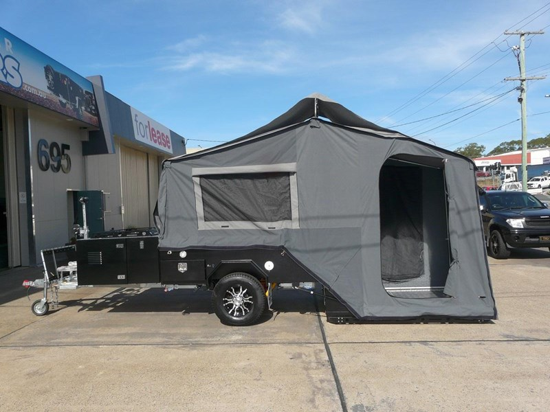 how to close rear fold camper trailer
