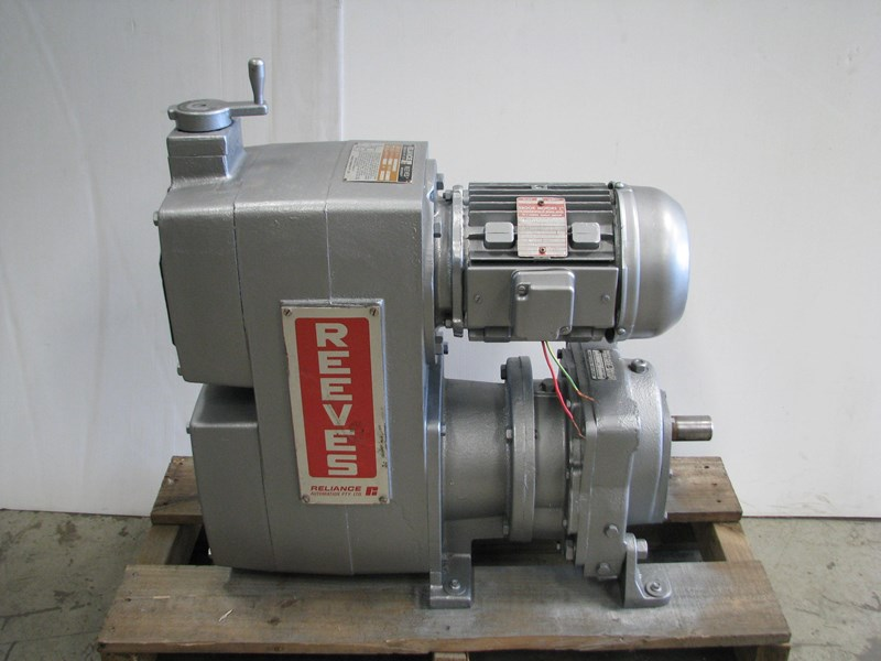 Reeves geared variable speed drive electric motor 2 2kw for Variable speed drive motor
