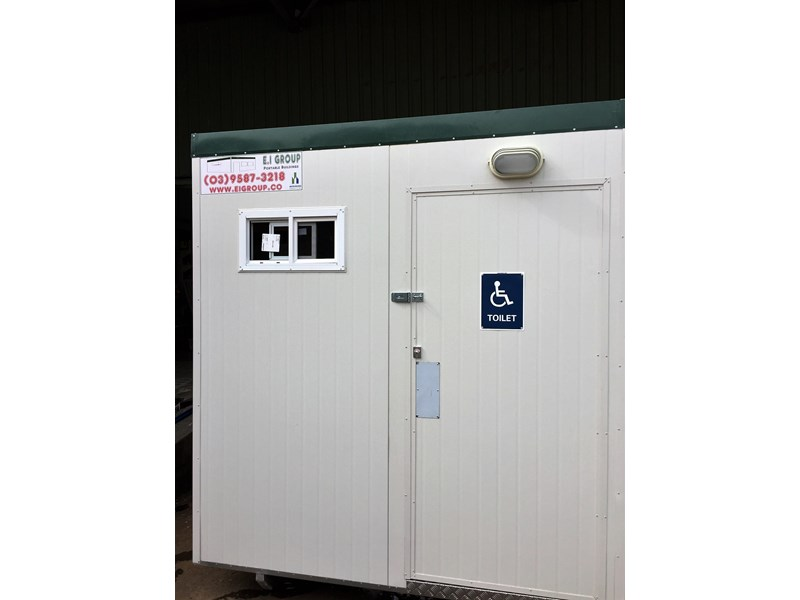 e i group portables compliant 2.4m x 2.4m disabled toilet. 144406 001
