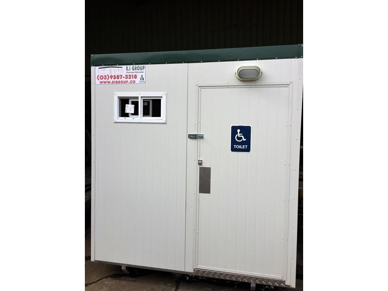 e i group portables compliant 2.4m x 2.4m disabled toilet. 144406 002