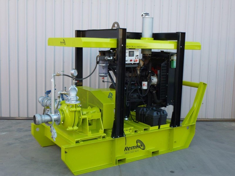 remko heavy duty diesel driven sand/sludge/slurry pump package 408395 002