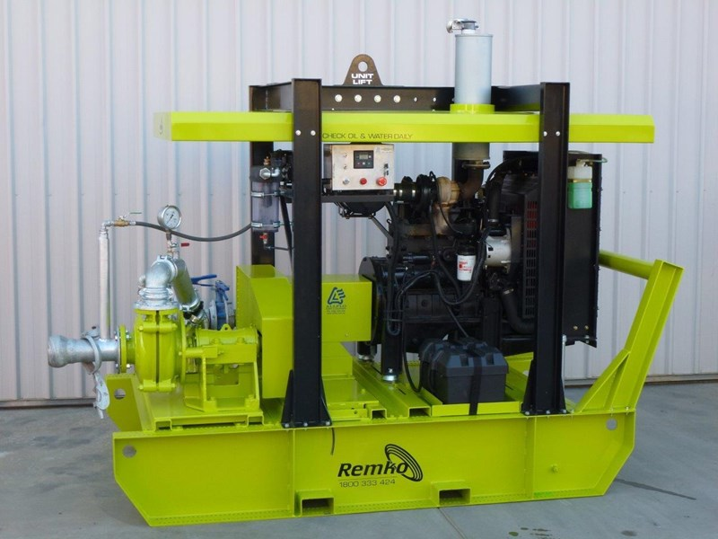 remko heavy duty diesel driven sand/sludge/slurry pump package 408395 022
