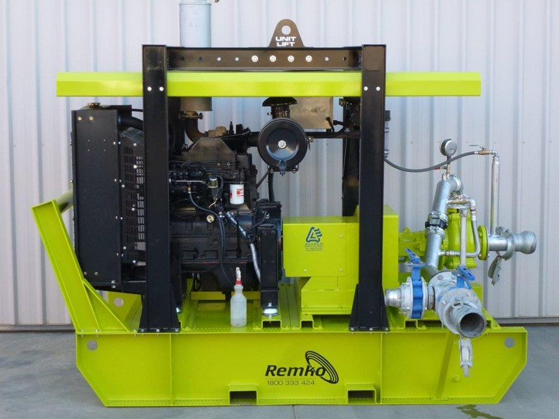 remko heavy duty diesel driven sand/sludge/slurry pump package 408395 025