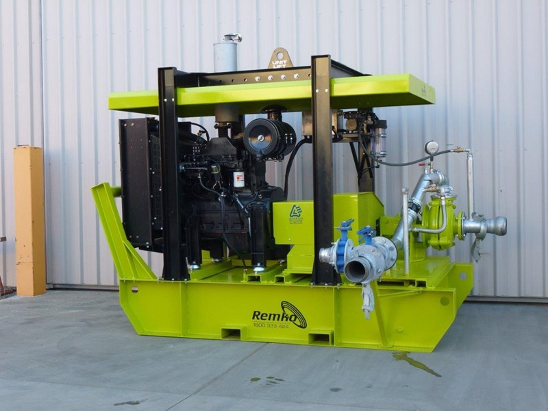 remko heavy duty diesel driven sand/sludge/slurry pump package 408395 027