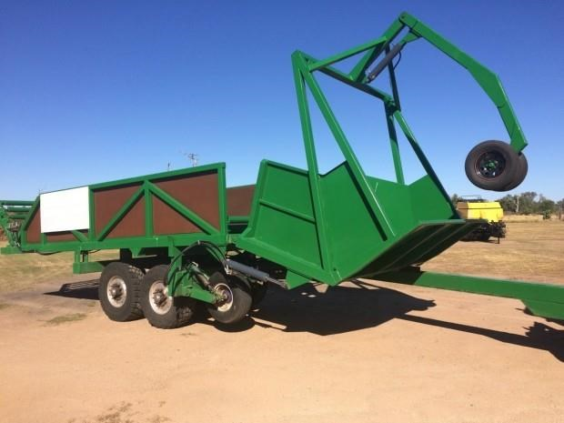 custom cotton round bale trailer 287383 012