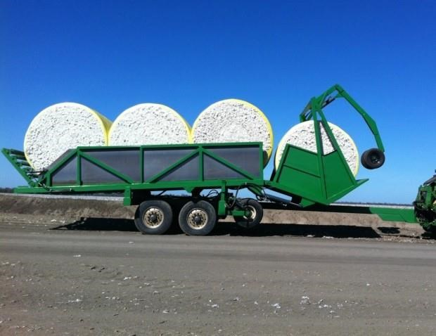 custom cotton round bale trailer 287383 011