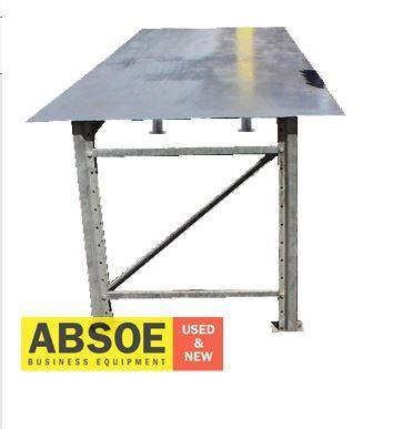 work benches steel frame & top - 2400mm w - workbench 418685 002