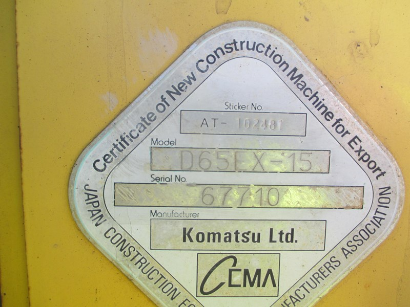 komatsu d65ex-15 dozer (also available for hire) 434804 035
