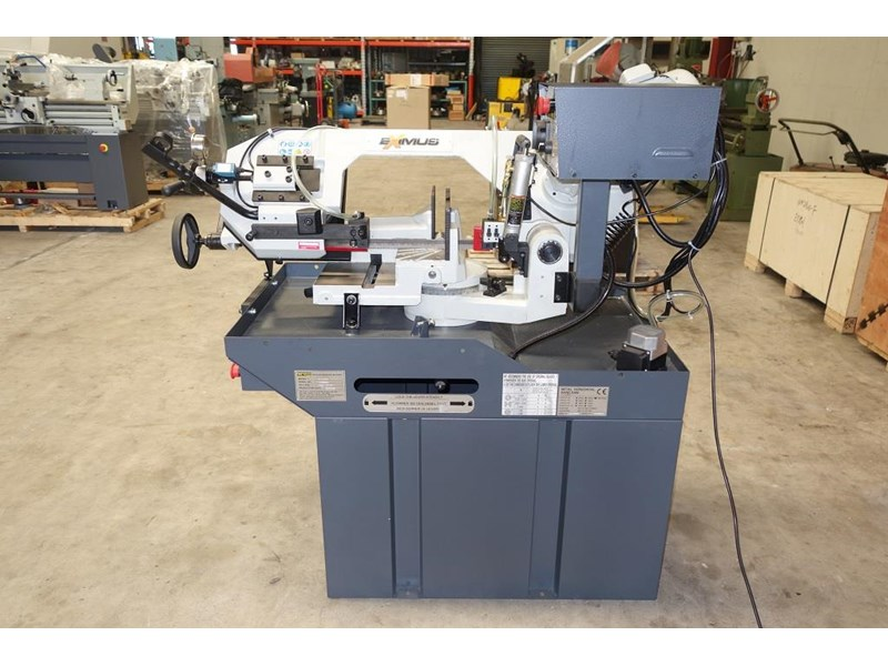 eximus taiwanese manual ø225mm capacity double mitre bandsaw 173635 008