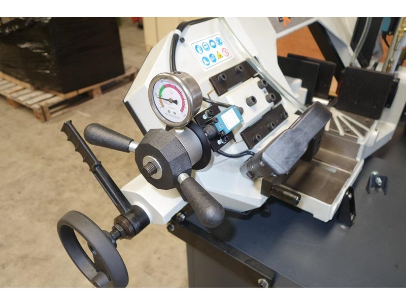 eximus taiwanese manual ø225mm capacity double mitre bandsaw 173635 013