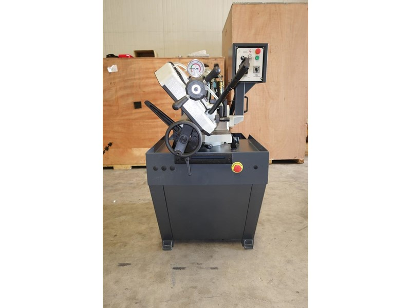 eximus taiwanese manual ø225mm capacity double mitre bandsaw 437508 002