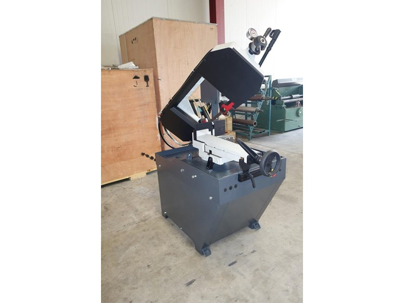 eximus taiwanese manual ø225mm capacity double mitre bandsaw 437508 018