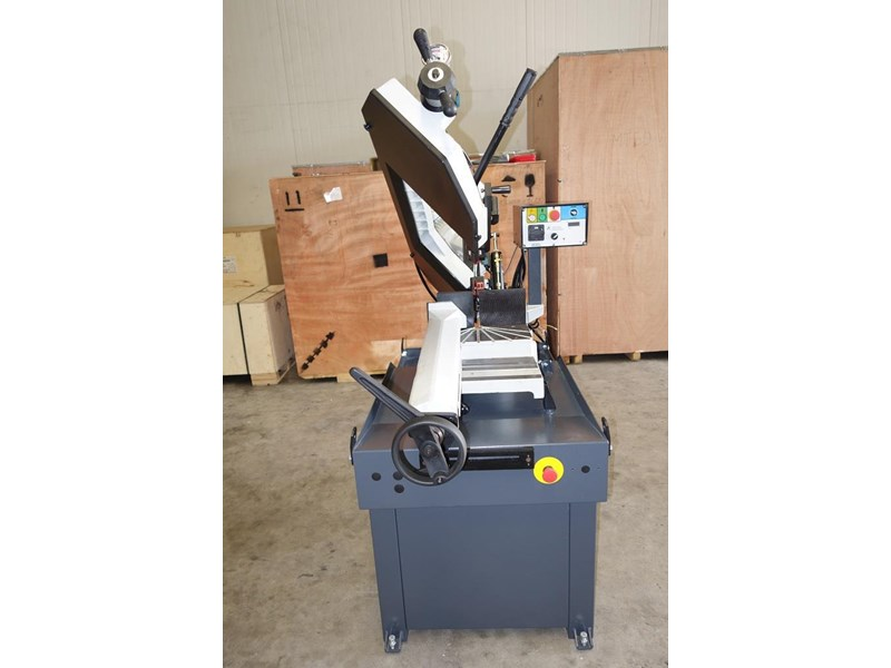 eximus taiwanese manual ø250mm capacity double mitre bandsaw 437507 002
