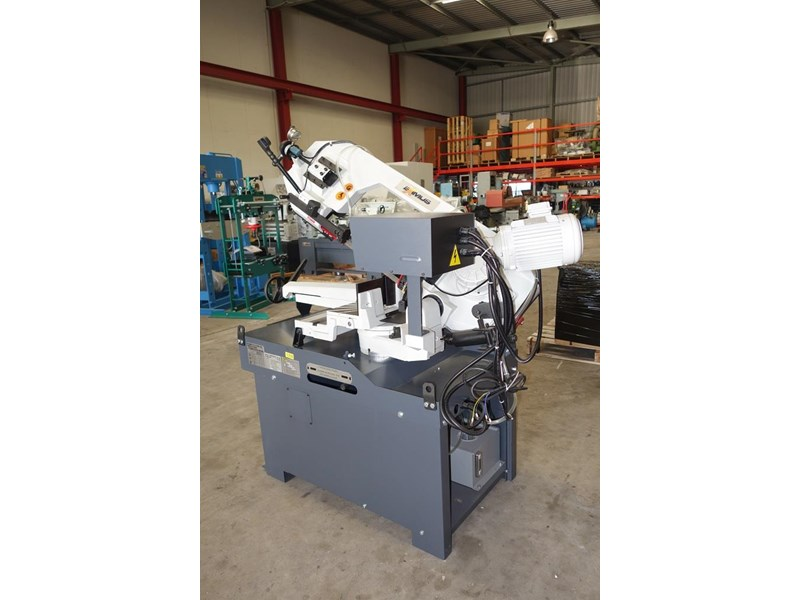 eximus taiwanese manual ø250mm capacity double mitre bandsaw 437507 007