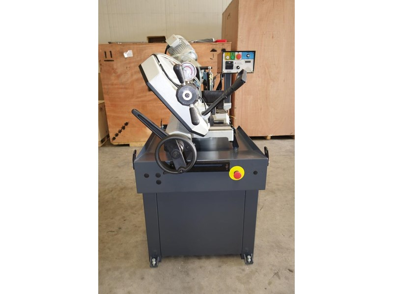 eximus taiwanese manual ø250mm capacity double mitre bandsaw 437507 008