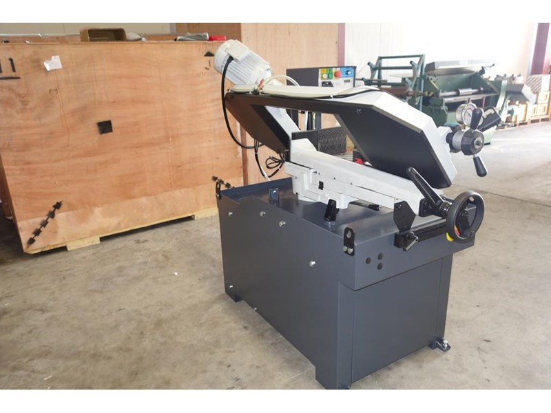 eximus taiwanese manual ø250mm capacity double mitre bandsaw 437507 009