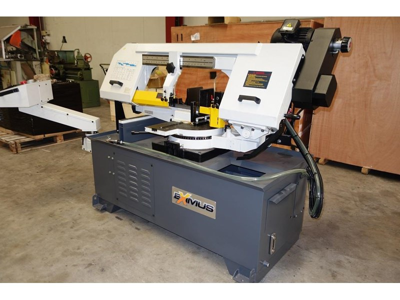eximus taiwanese semi-automatic ø330mm capacity double mitre bandsaw 437668 004