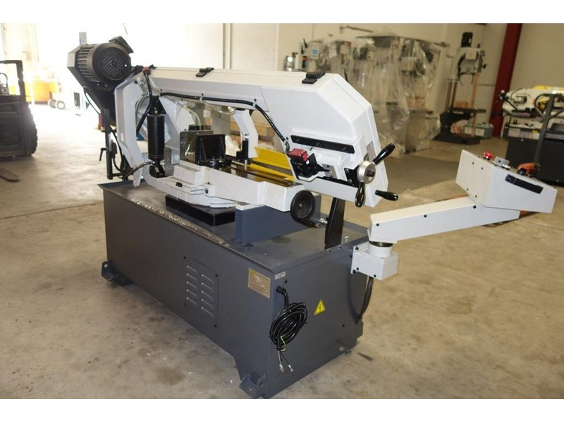 eximus taiwanese semi-automatic ø330mm capacity double mitre bandsaw 437668 005
