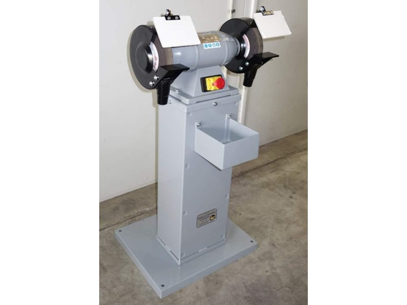 "eximus taiwanese 8"" pedestal grinder 240v with stand 437799 002"