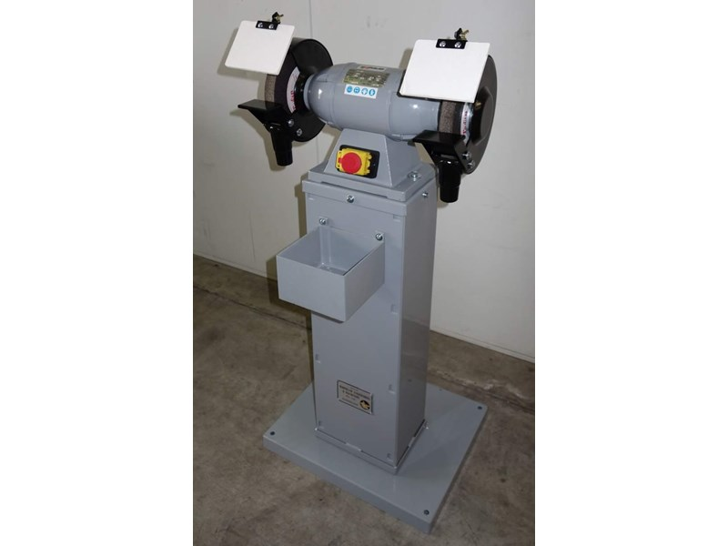 "eximus taiwanese 8"" pedestal grinder 240v with stand 437799 003"
